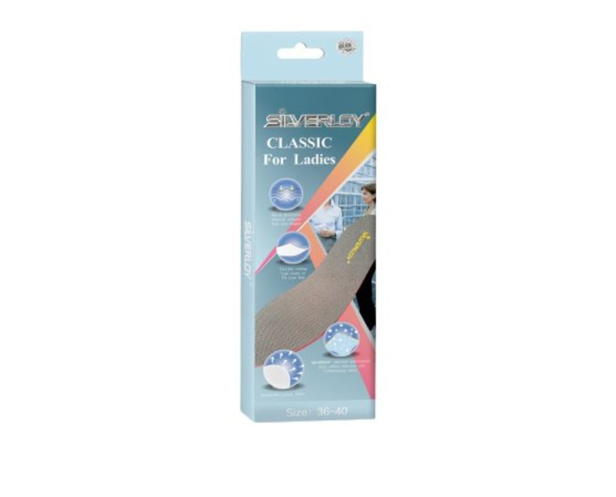 Physical Ag Antibacterial Insole- Classic for Ladies