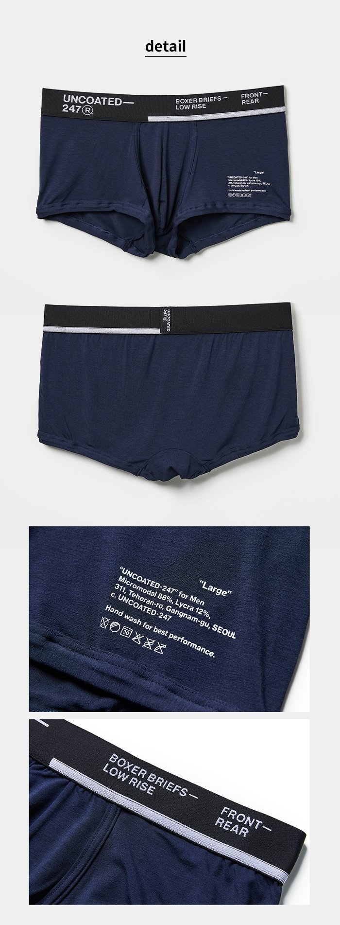 UNCOATED 247 Boxer Briefs Low Rise