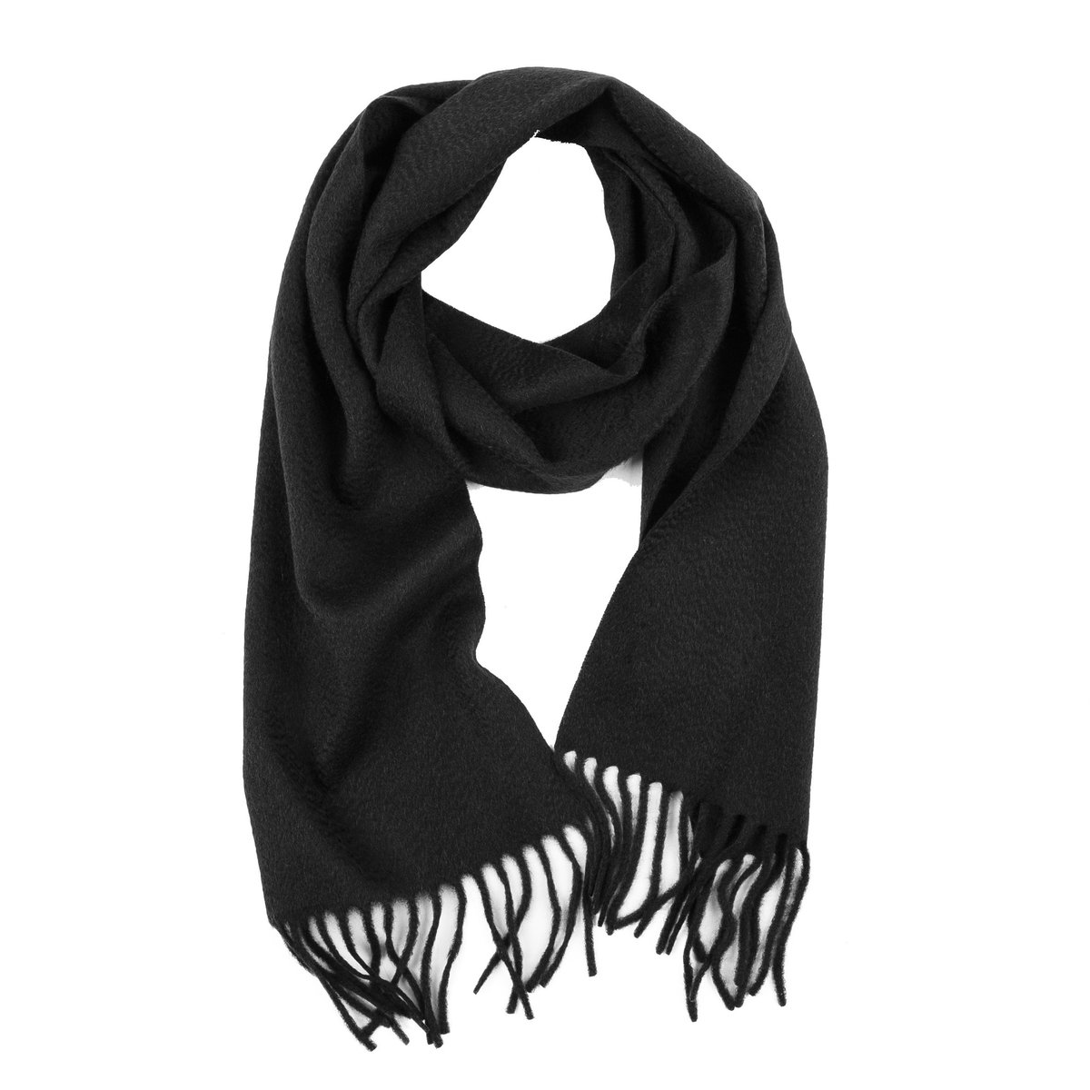 100% COLOMBO PURE CASHMERE SCARF (BLACK)