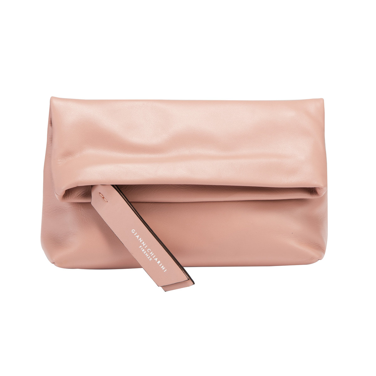 CHERRY SMALL CAMMEO LEATHER CLUTCH BAG