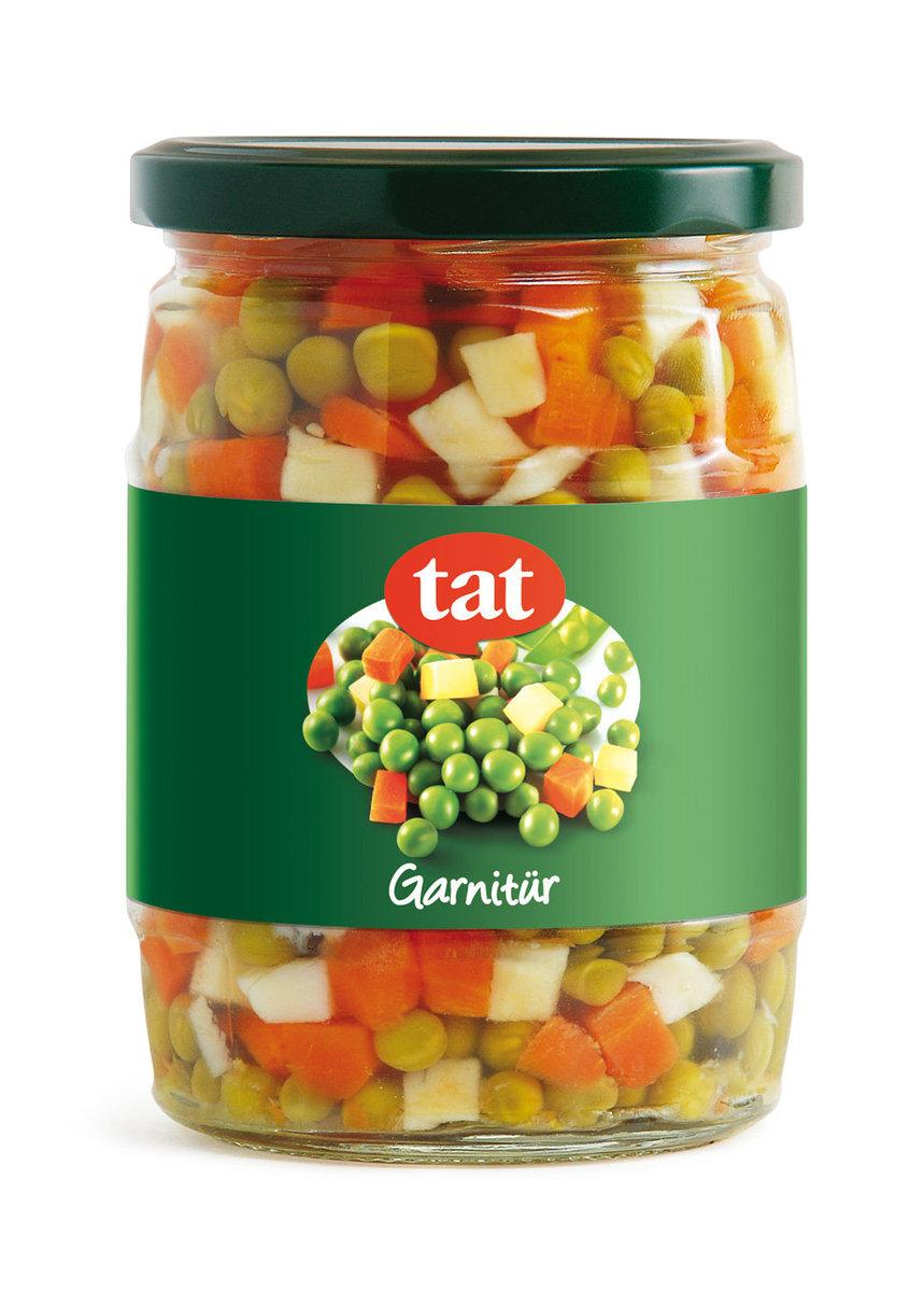 雜菜(青豆) 玻璃樽裝 淨重550克, 瀝乾淨重:340克