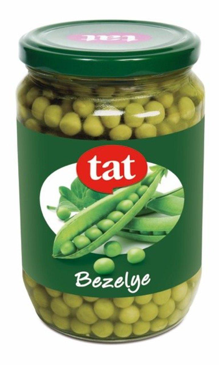 綠豌豆 玻璃瓶720cc 淨含量:680克。 去水淨重.:420克