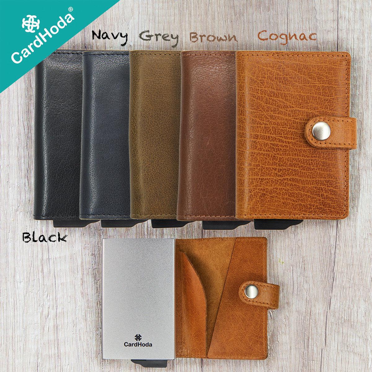 RFID Protected Slim Wallet for Men - Leather Buff DD Black