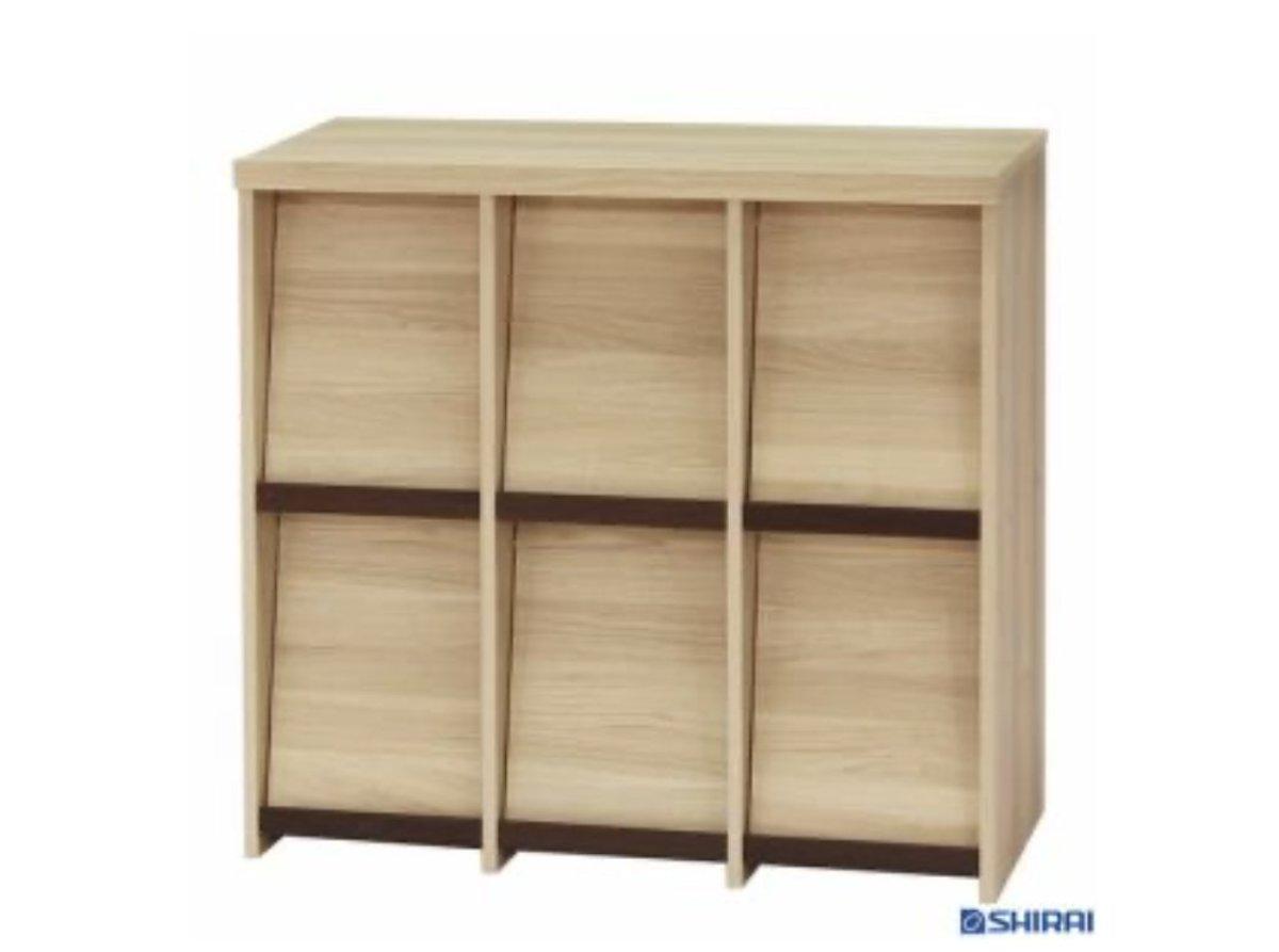 日本製淺木色薄身儲物櫃SEP9095FNA