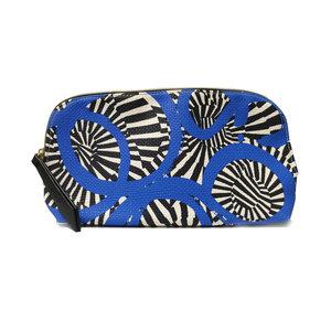 Blue & Black Pattern Cosmetic Bag