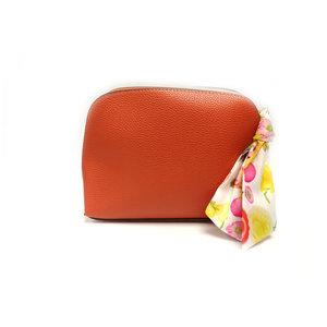彩帶橙色化裝包