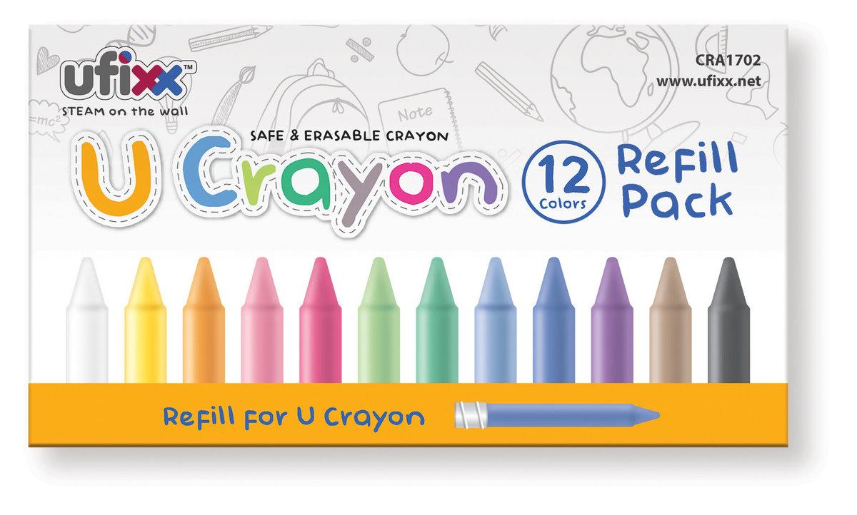 U Crayon 12 Colors Refill Pack