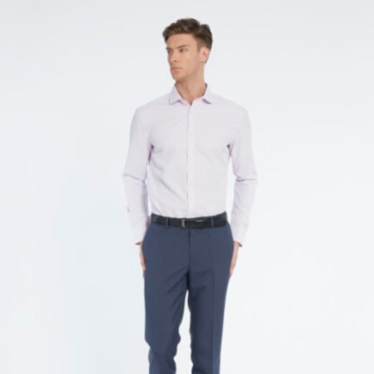 男士 速乾吸濕排汗平紋恤衫(紫色)