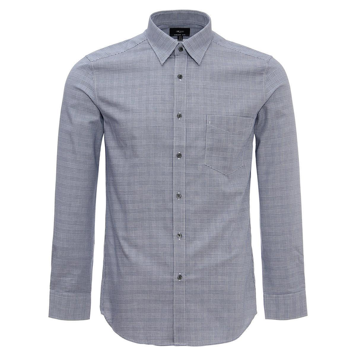 MEN'S Long Sleeve PLAID Shirt(navy)