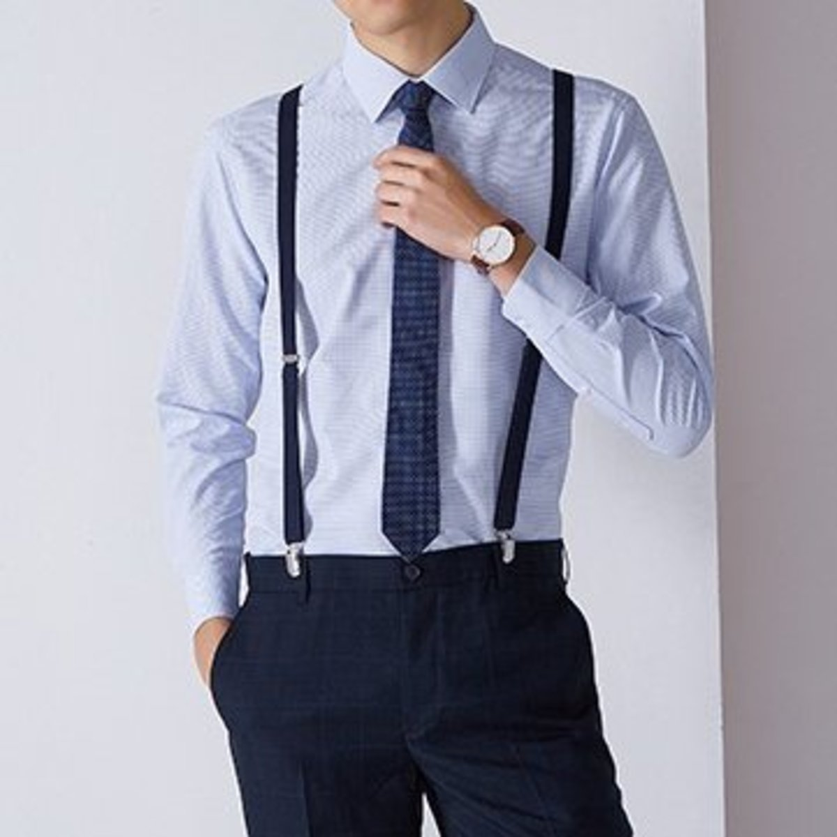 Men's Quick Dry 2-Tone Shirt (Blue)