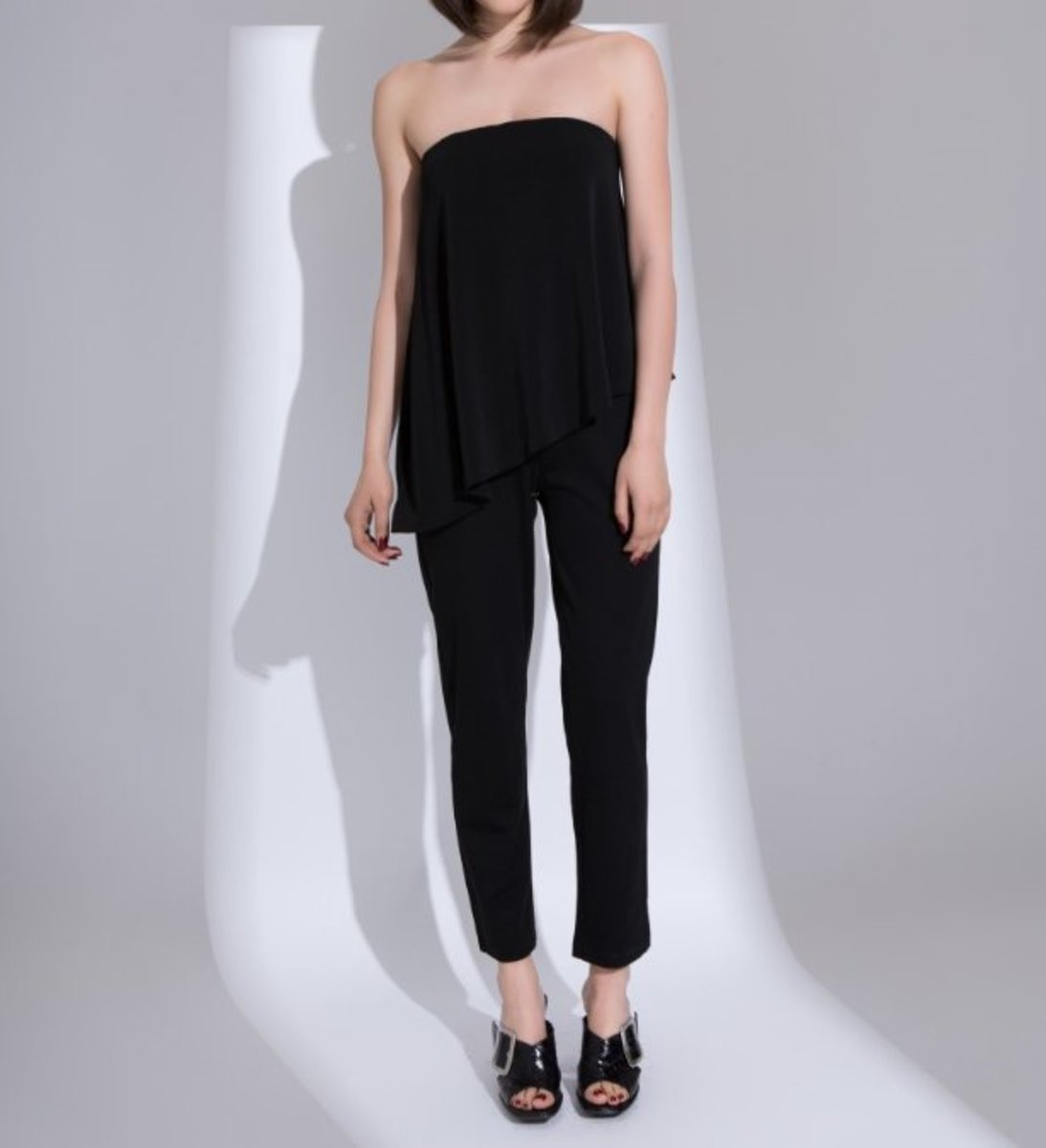 Women's Stretched Strapless Jumpsuit (Black)