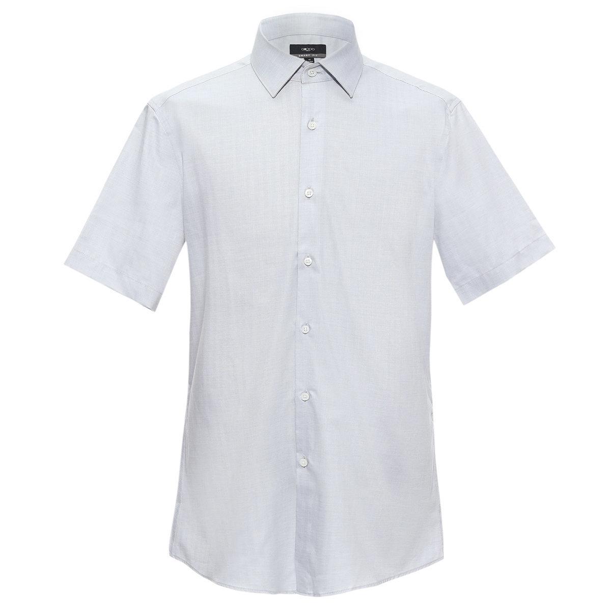 Men's Cotton Short Sleeve Shirt(grey)