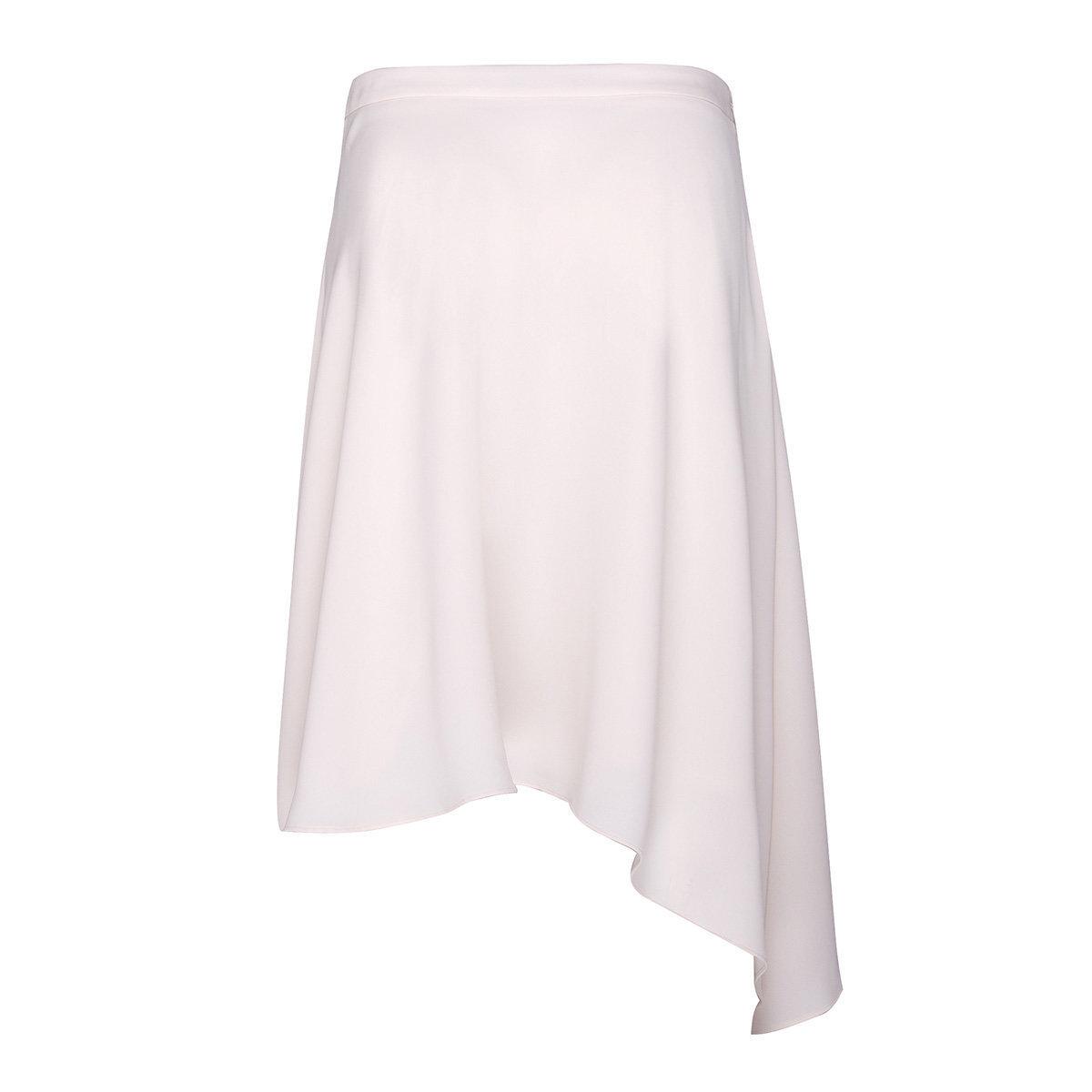 Women's Asymmetric Hem Skirt (Light Pink)
