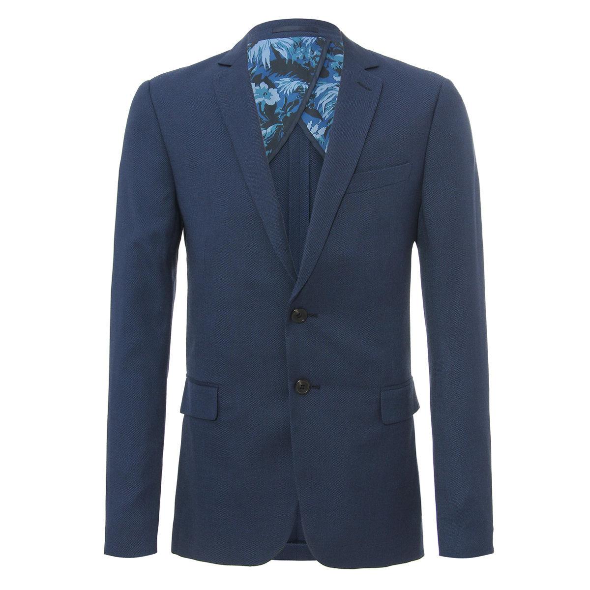 Men's Slim Fit Suit Blazer (Midlight Blue)
