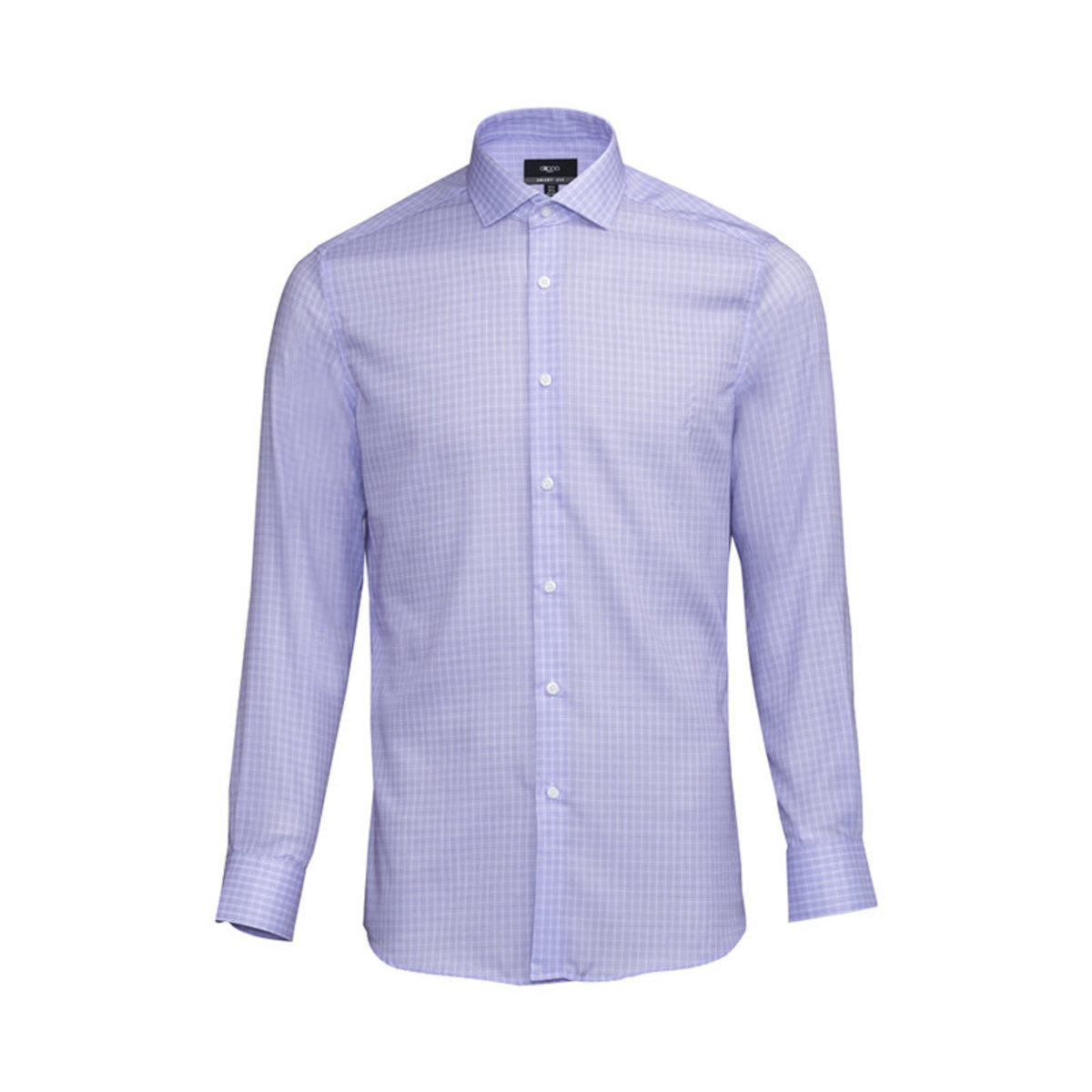 Men's 100% Cotton Checked Long Sleeves Shirt (Lavender)