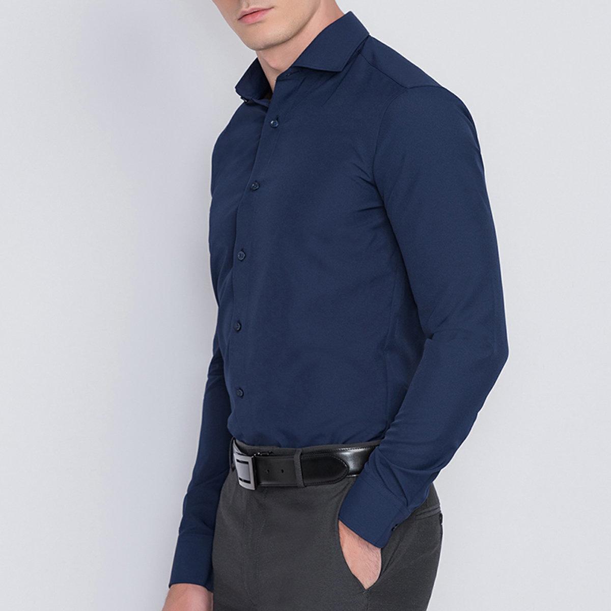 【Anti-bacterial】Men's Quick Dry Shirt (Peacoat)