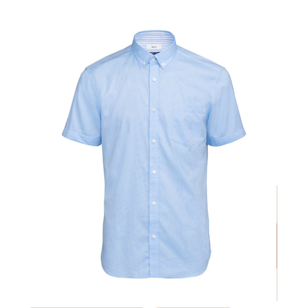 Men's Fine Cotton Oxford Short Sleeve Shirt (Blue Moon)