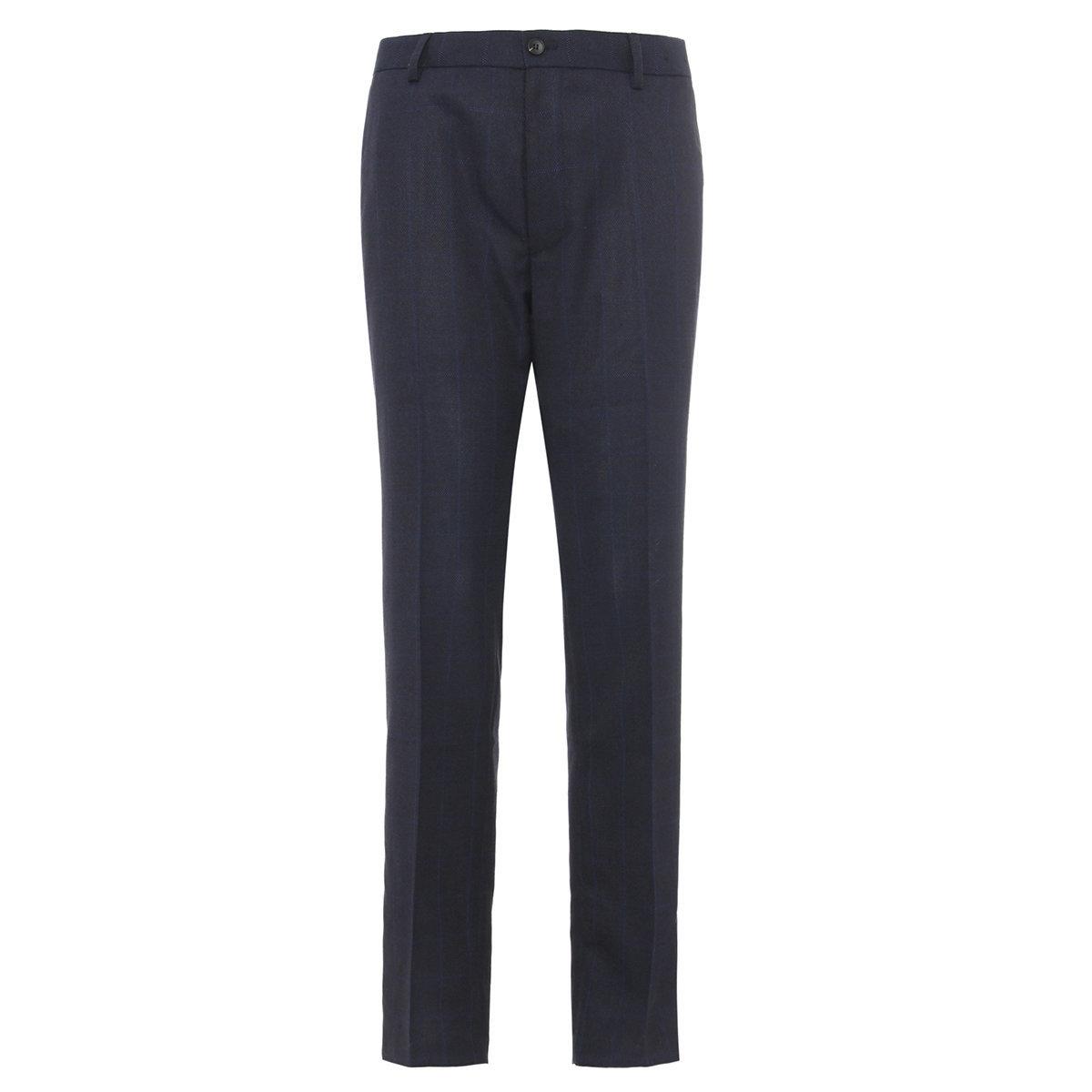 Men's Regular Fit Pants (Midnight Blue)