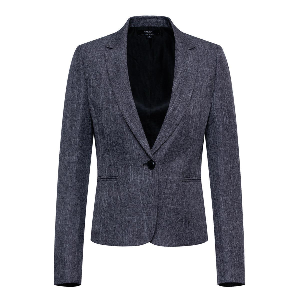 Women's Cross-woven blazer (Steel Grey)
