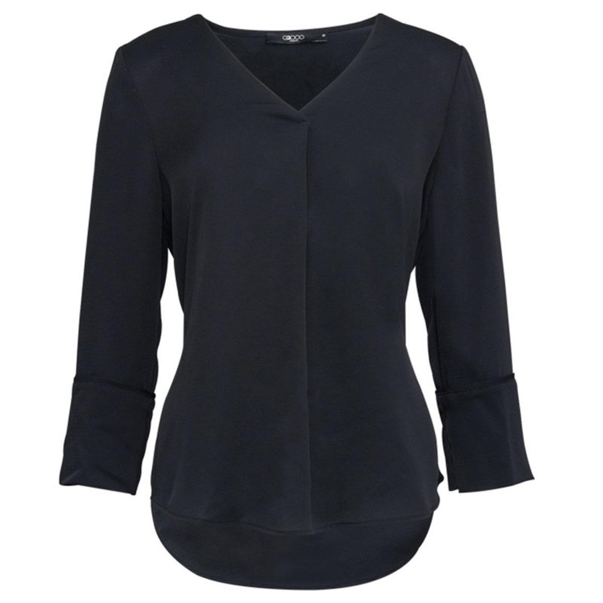 Women's V-neck Top (Black)