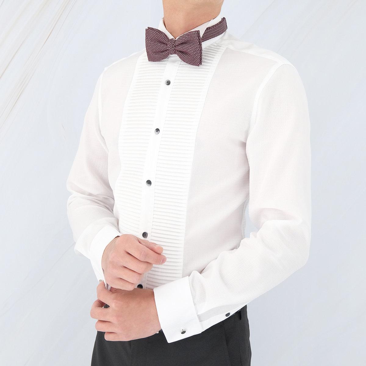Men's Pure Cotton Wrinkle Free+ Shirt (White)