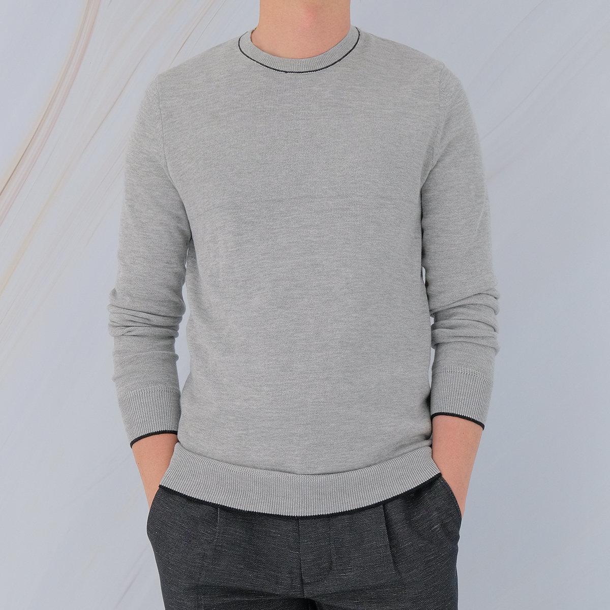 Men's Cotton Sweater (Black)