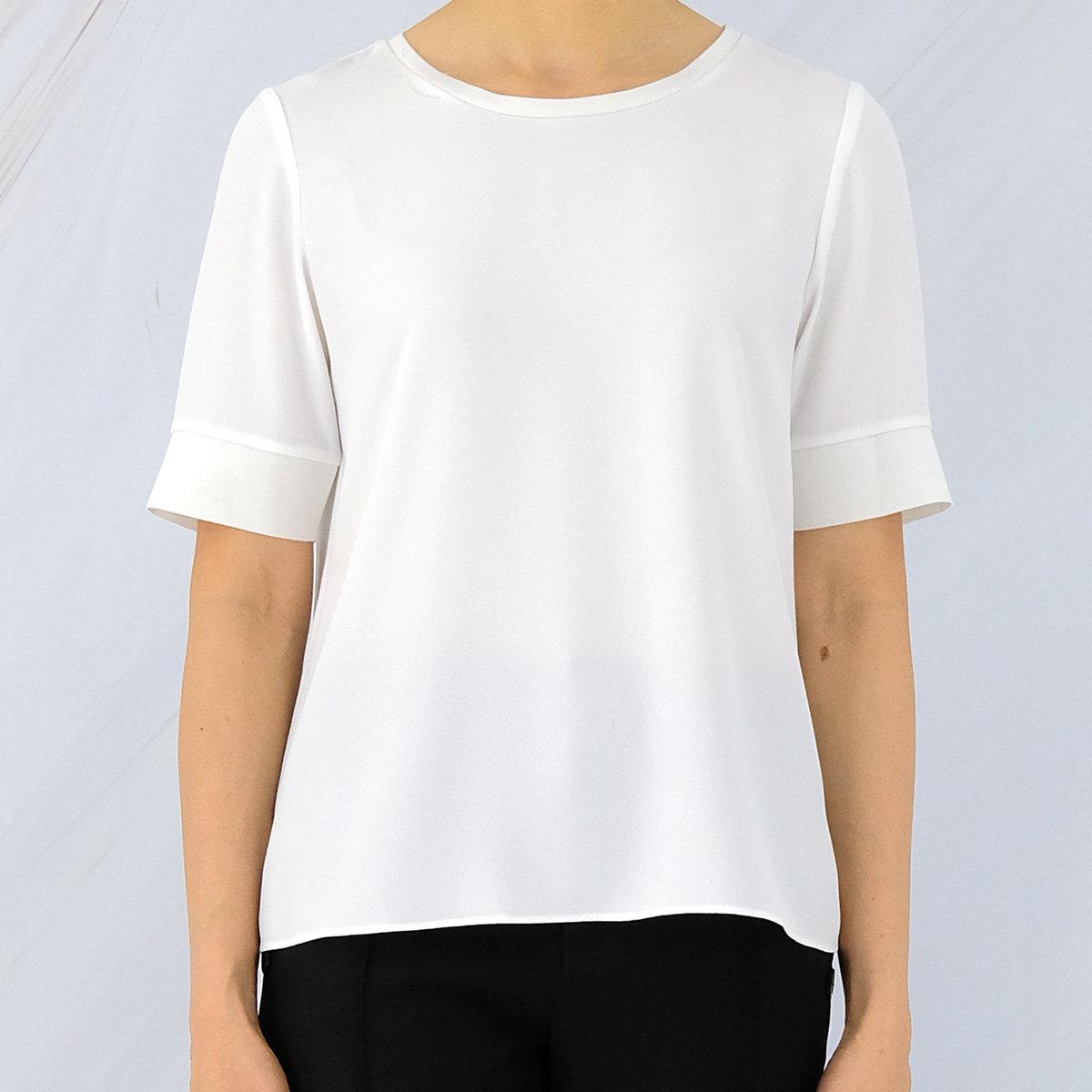 Women's Crew-neck Short Sleeve Top (Whisper White)