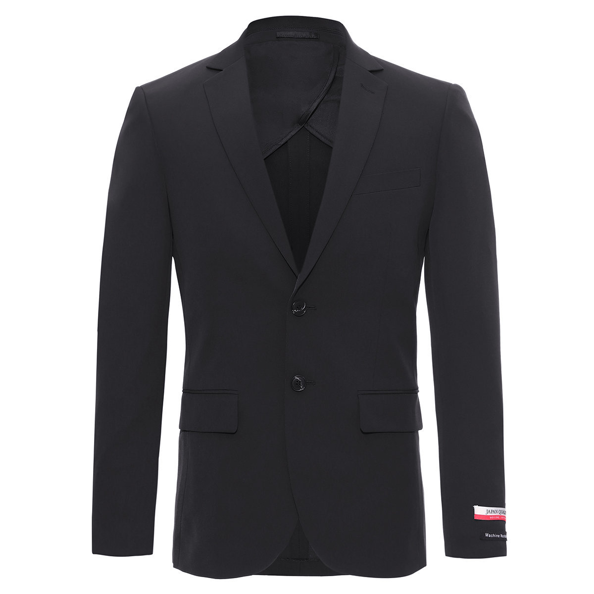 【Machine Washable】Men's Regular Fit Japan Fabric Suit Blazer (Black)