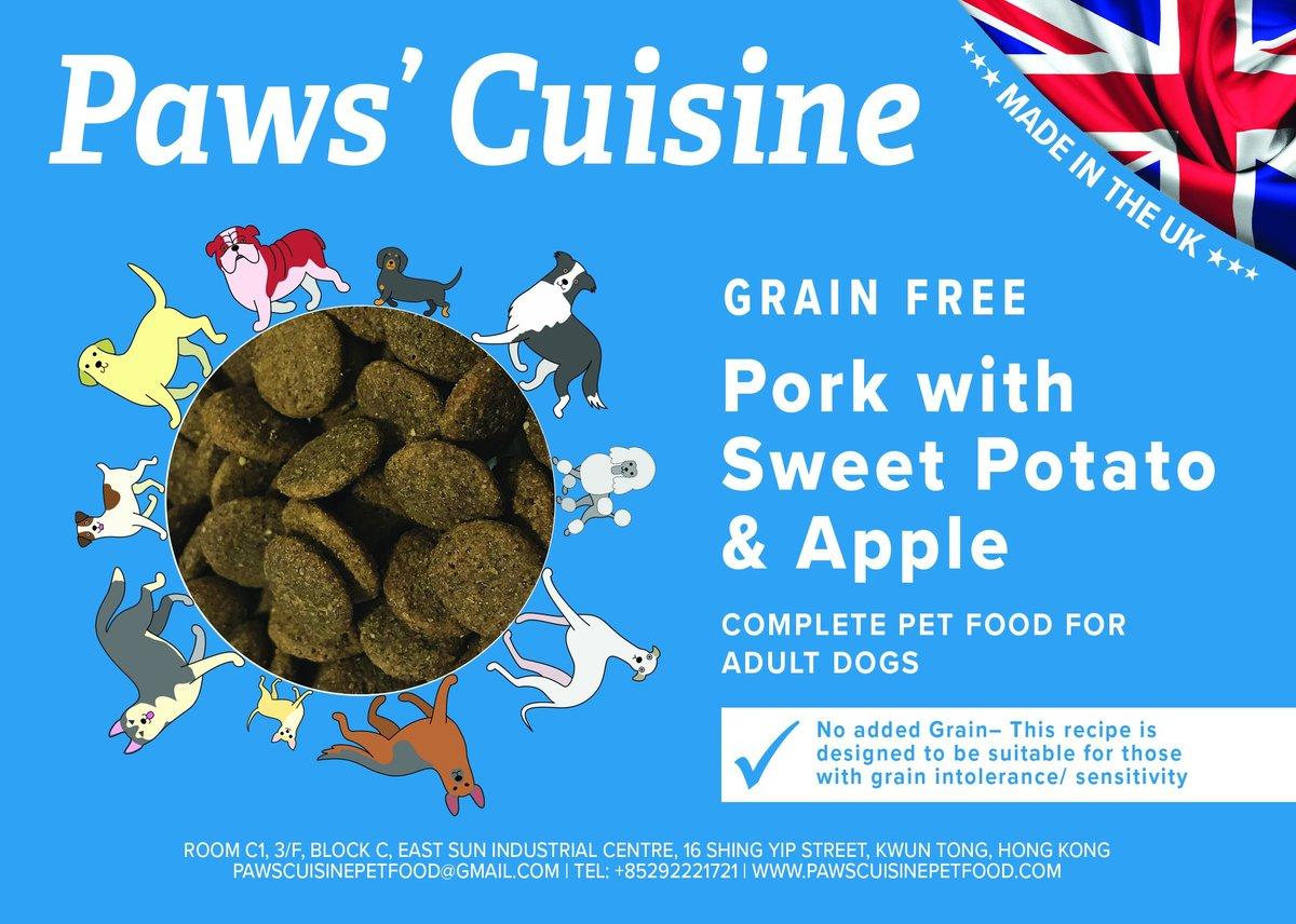 成犬 - 無穀物 - 豬肉配甜薯蘋果, 4kg