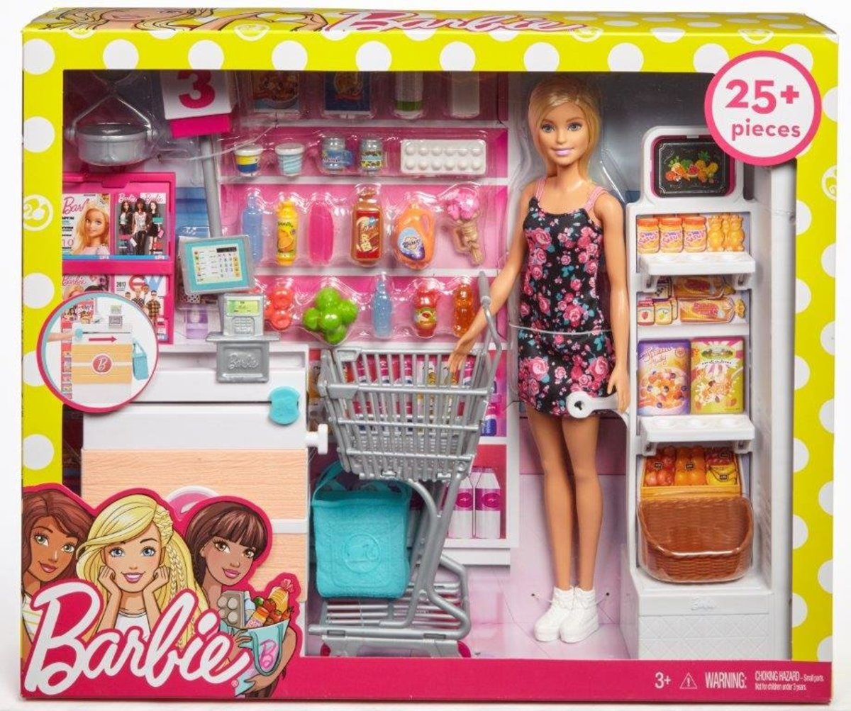 芭比超級市場組合連娃娃