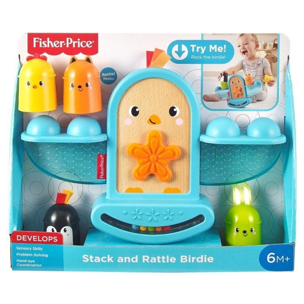 Fisher-Price® Stack and Rattle Birdie