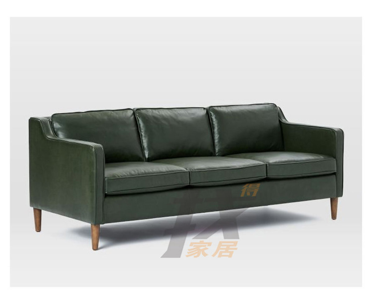 Nordic combing Restaurant office combing Small apartment three seater sofa scombing 90001 Dark green
