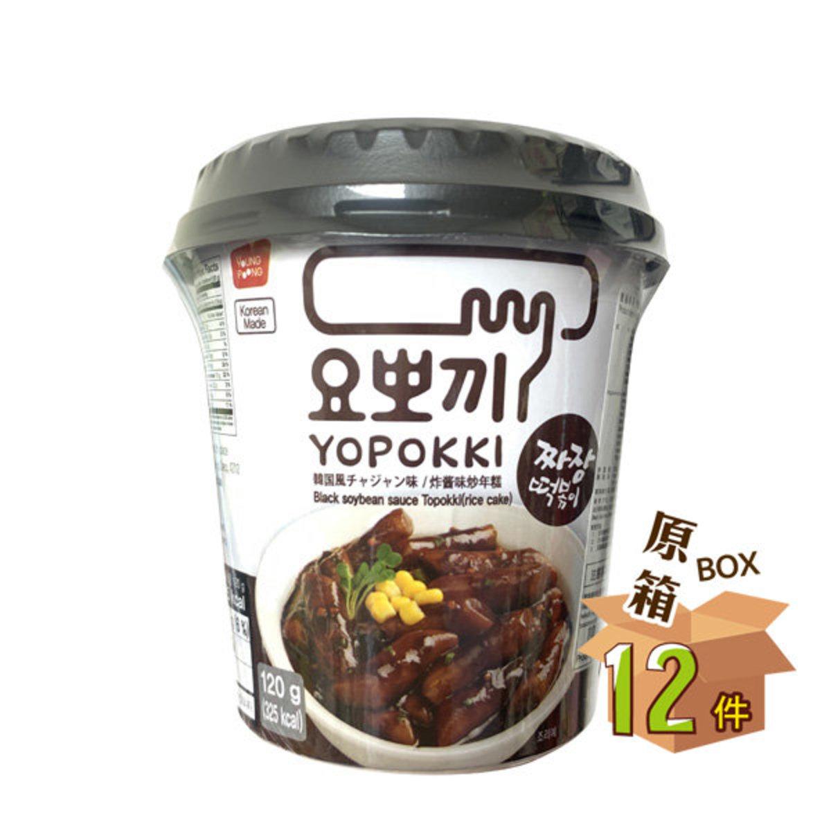 《原箱》Jjajang Flavor Rice Cake (Cup Set)- Full Case 12pcs