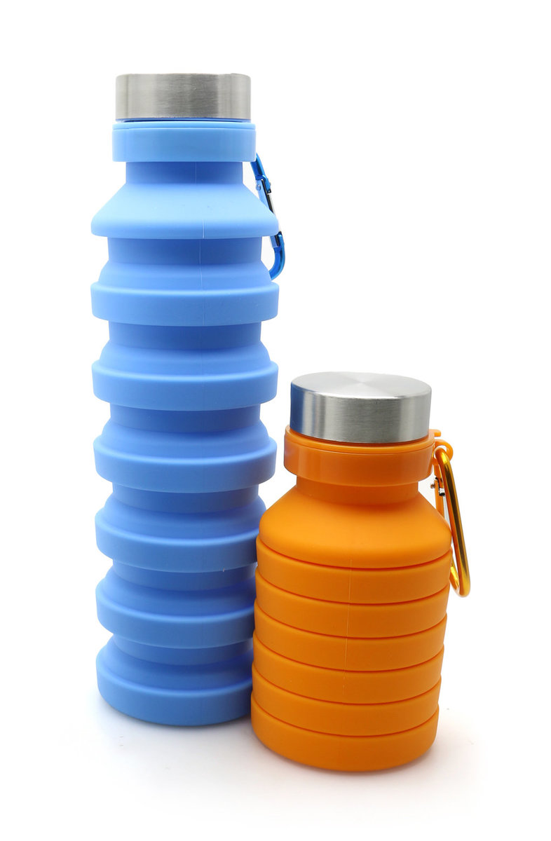 Foldable Silicone Water Bottle (2pcs)