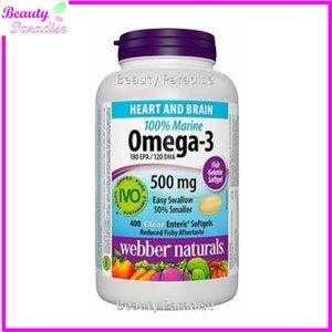 Webber Naturals Omega-3 迷你魚油膠囊 (500 毫克) 超值加量裝 400 粒軟膠囊 80 粒軟膠囊