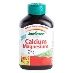 Jamieson 健骨鈣、鎂及鋅片 加量裝 200 粒