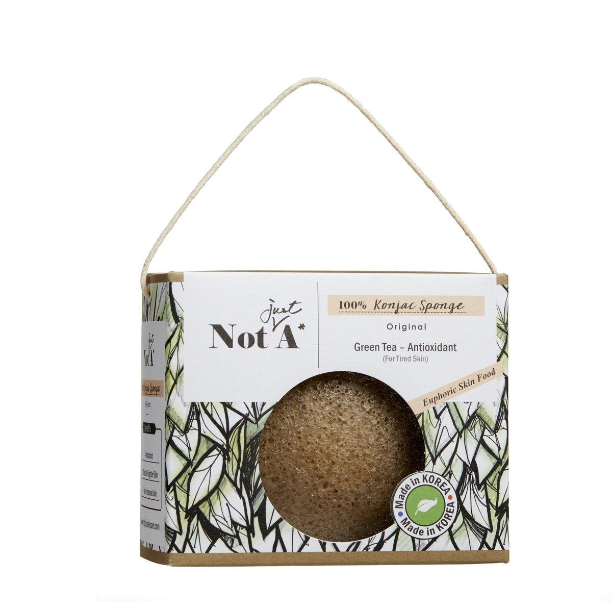 Konjac Face Sponge - Green Tea - Antioxidant