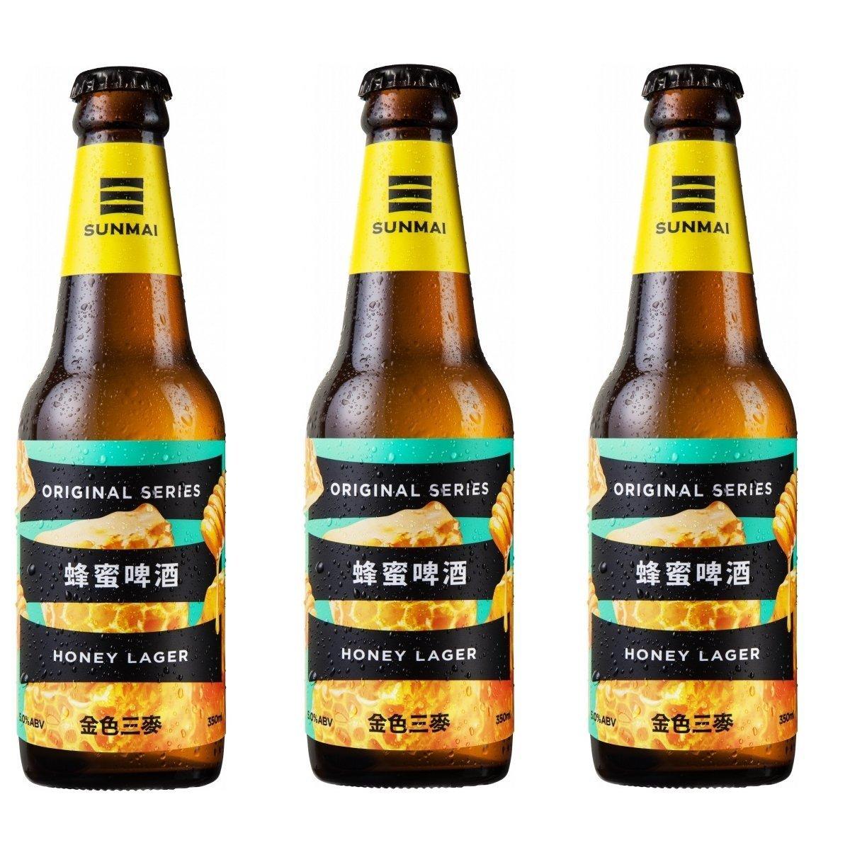 人氣No.1**蜂蜜啤酒 (Honey Lager) **台灣便利店熱賣** 人氣手工啤酒 350ml 3支裝
