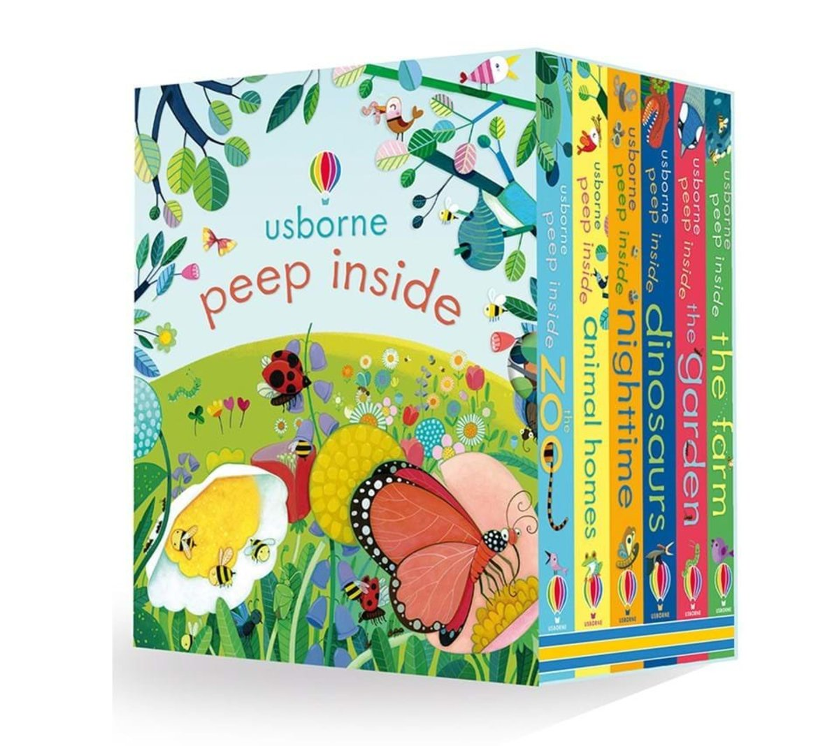 Usborne Peep Inside Collection - 6 Board Books Box Set