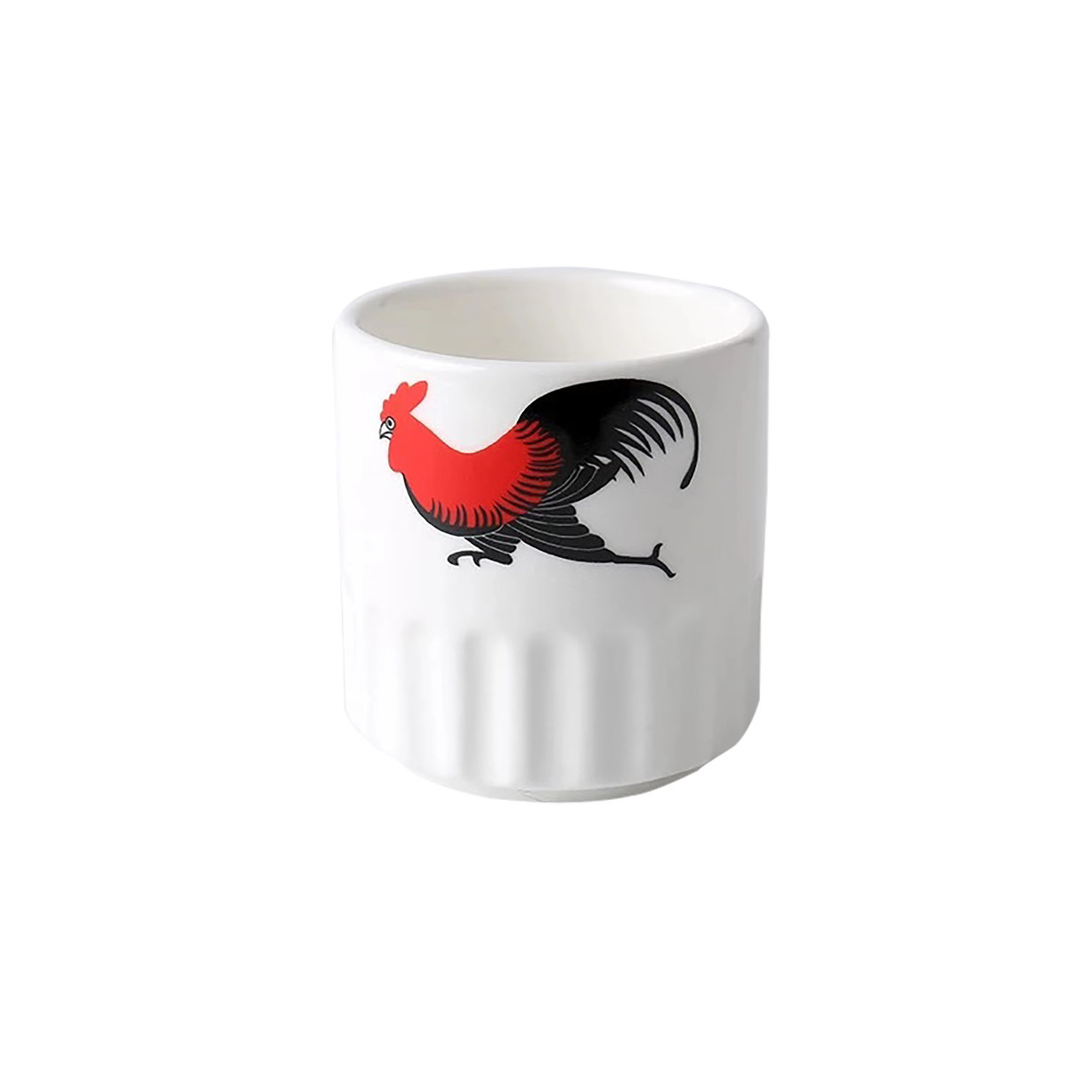 Magnesium porcelain half-grain chicken cup [6 packs]