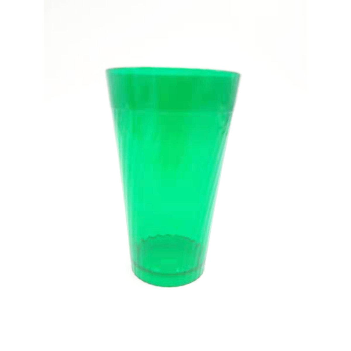 綠色13oz斜紋膠水杯
