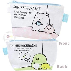 日本版角落生物筆袋角落小顆伴筆袋化妝袋雜物袋 白熊企鵝 Sumikko Gurashi筆袋化妝袋 Natural  每個