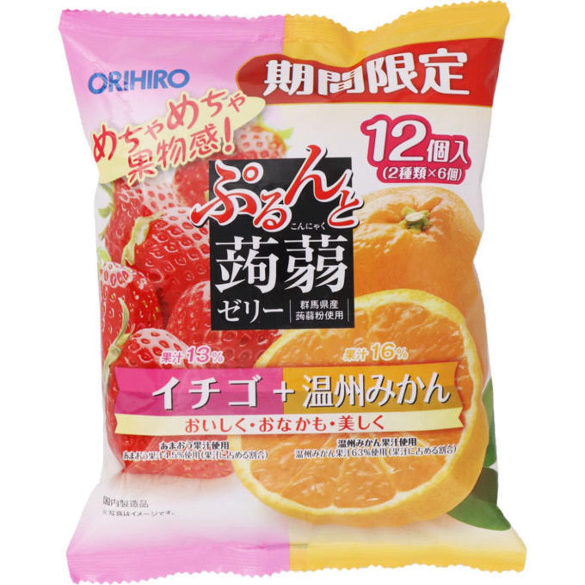 士多啤梨 温州蜜柑味蒟蒻  20g×12個 (平行進口)
