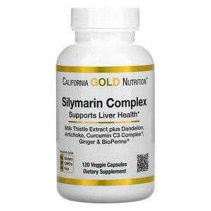California Gold Nutrition 肝功能健康水飛薊素複合物素食膠囊,300 毫克,120 粒