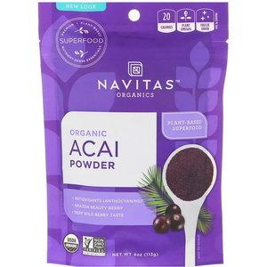 Navitas Organics Superfood 有機抹巴西莓粉,4 盎司(113 克) 113 g