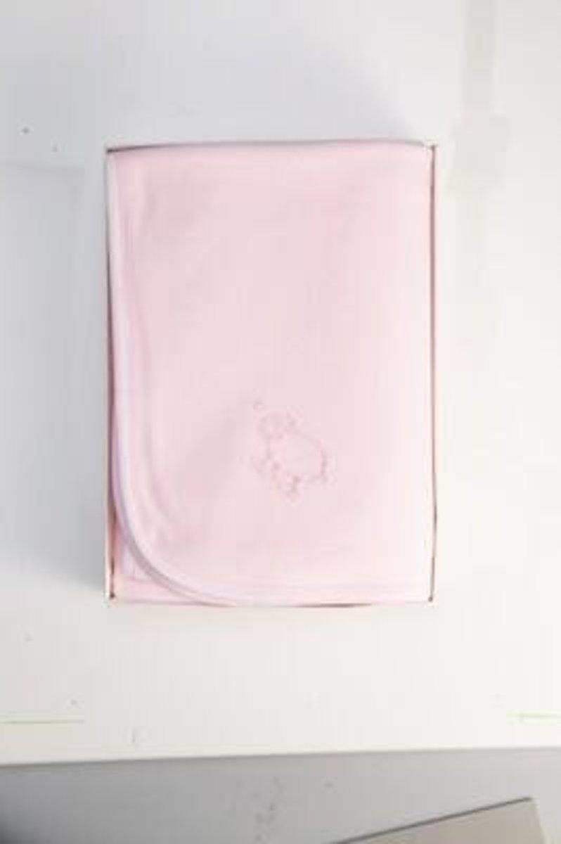 Pink Velour Hippo Basinet Blanket