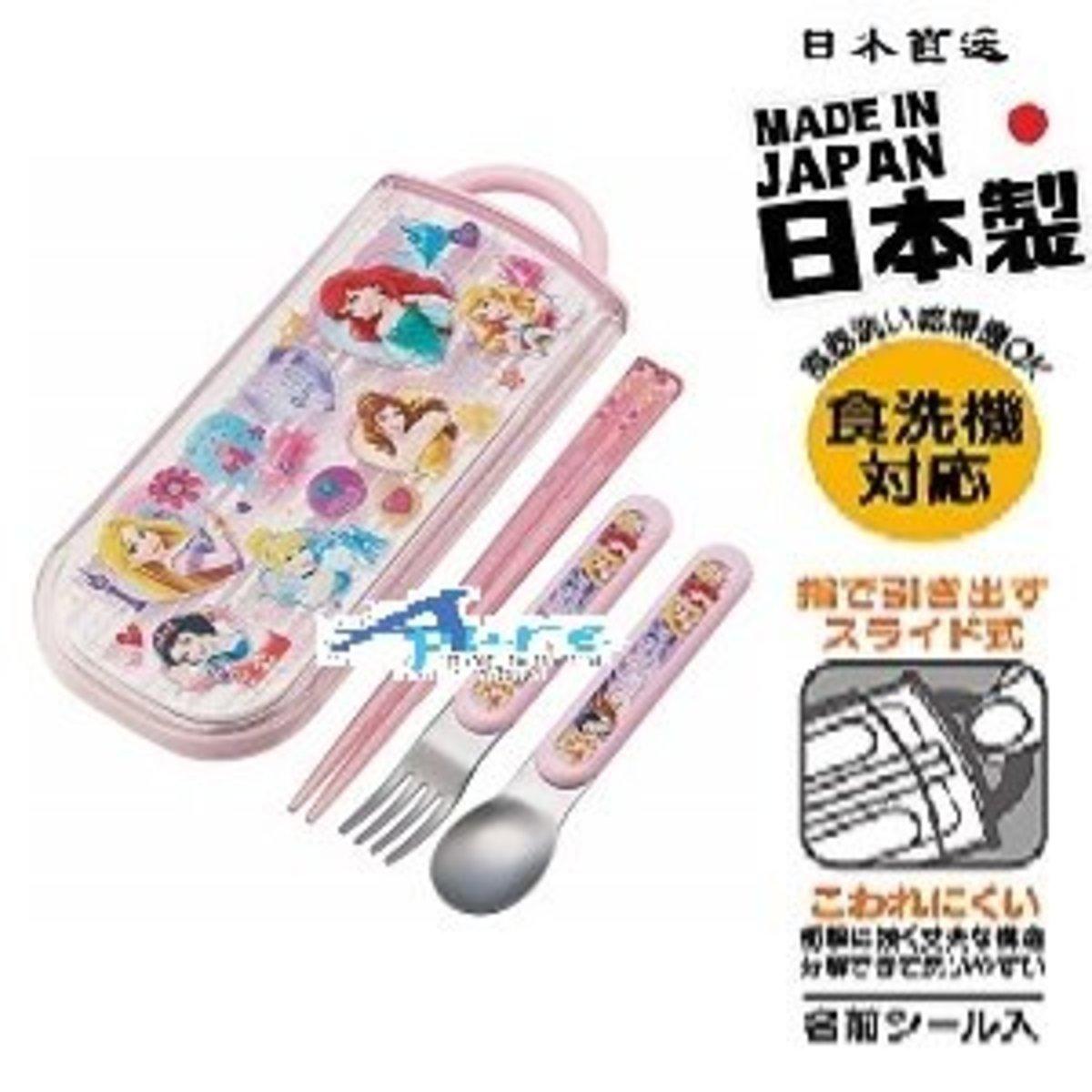 -Skater Chopsticks + Spoon + Fork Lunch Set (Parallel Import)