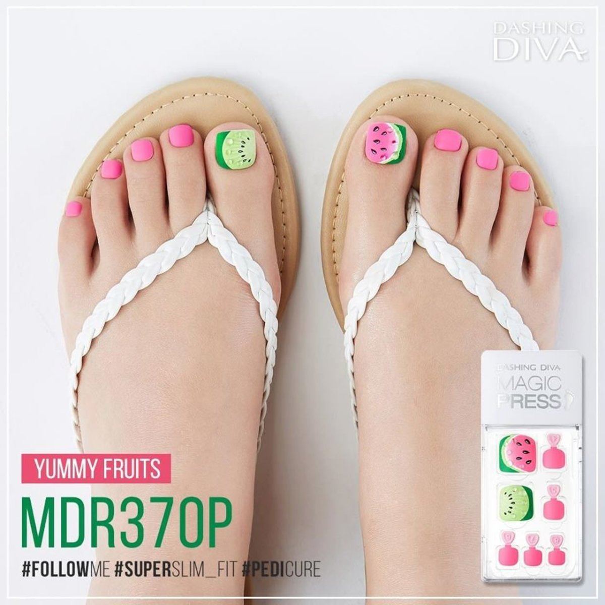 Magic Press MDR370P Pedicure Super Slim Fit - Yummy Fruits