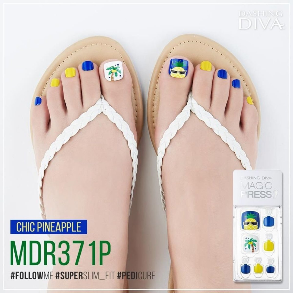 Magic Press MDR371P Pedicure Super Slim Fit - Chic Pineapple