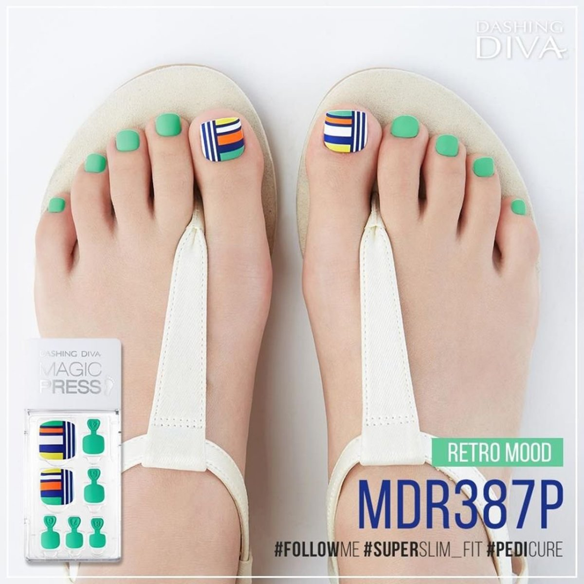 Magic Press MDR387P Pedicure Super Slim Fit - Retro Mood